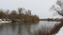 Januárové ráno na rieke Morave