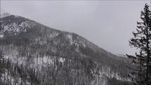 začiatok sneženia na Hrebienku, v blízkosti Bílikovej chaty