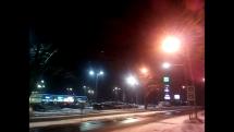 Zlaté Moravce pod snehom