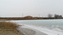 Zamrznuté jazero vo Veľkom Bieli