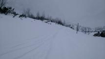 Sneženie v Doline Zeleného plesa
