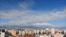 časozber oblačnosti nad Tatrami, z Popradu -29.1.2019, dopoludnia