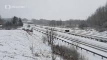 Počasie v ČR - sneh v Karlovarsku