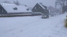 Počasie v ČR - sneženie v Pernink