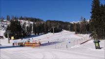 ranná lyžovačka na Štrbskom plese