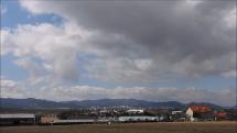 oblačnosť v okolí Tatier a Popradu - 26.3.2019, dopoludia