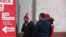 Odjezd českých fanoušků z Brna do Bratislavy na MS v hokeji