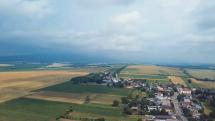 Búrka nad Slanskými vrchmi.