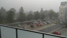 Búrka v Českých Budejoviciach