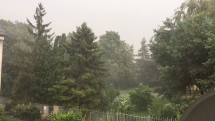 Búrka s krúpami v Košiciach