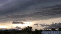 Príchod búrky na Dolný Zemplín
