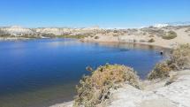 Kirgizstan - soľné jazero