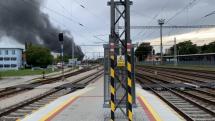 Požiar haly v Trnave