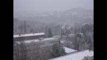 Prvý sneh v Bratislave