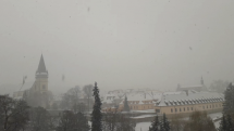 Tak snežilo ráno v Bardejove