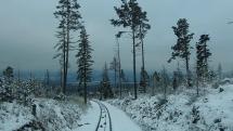 pohľad z pozemnej  lanovky , ktorá ide na Hrebienok