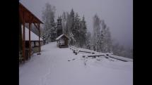Sneženie na severovýchode Slovenska