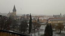 Padá  snežík, padá...Bardejov
