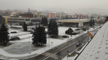 V Bardejove sneží