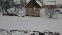 Sneženie v Sedliackej Dubovej na Orave