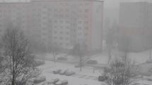 sneženie - Poprad, 11.2.2020, okolo 9,45 hod.