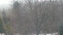 V Bardejovských kúpeľoch sneženie