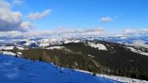 Panoráma Nízkych Tatier z hrebeňa