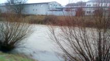 Rozvodnená rieka Slatina