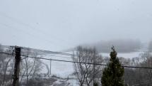 Ranné sneženie v Levoči
