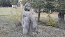 Travertínové sochy v prírode