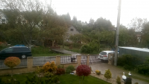 Považská Bystrica, dážď so snehom