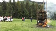 Jánska vatra a spevácka zložka folklórneho súboru Bystrica