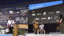 Koncert kapely 2 VoiSis pri Dolnej bráne v Košiciach
