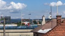 Vrtuľník Black Hawk nad Košicami