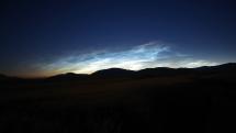 Nočné svietiace oblaky v okolí Brezna