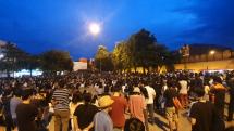 Študentský protivládny protest v Chiang Mai 2