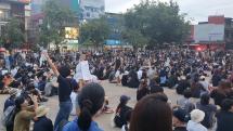 Študentský protivládny protest v Chiang Mai 3