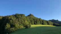 Hričovský hrad s mesiacom