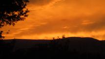 Západ slnka nad Martinský mi Hoľami