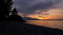 Východ slnka na Liptovskej Mare