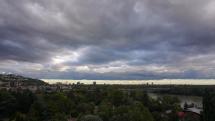 Prechod oblačnosti nad Bratislavou