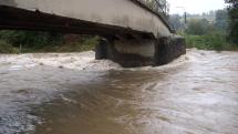 Zvedlé hladiny řek na Moravě