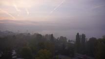 Bratislava - ranný opar nad Dunajom
