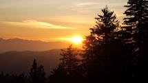 Javorníky pri východě slnka