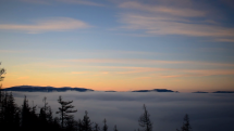 ranná údolná hmla nad Popradskou kotlinou