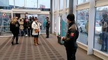 Policajný dozor v nákupnom centre